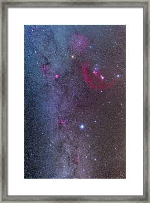 Orion, Monoceros & Canis Major Framed Print by Alan Dyer