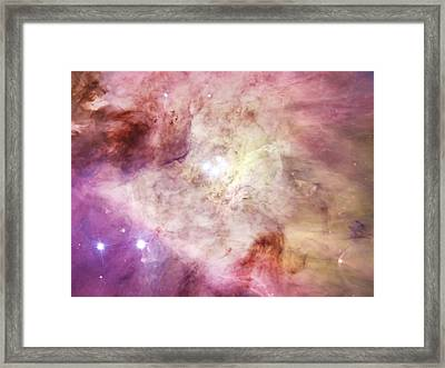 Orion Nebula And Large Stars Framed Print by The  Vault - Jennifer Rondinelli Reilly