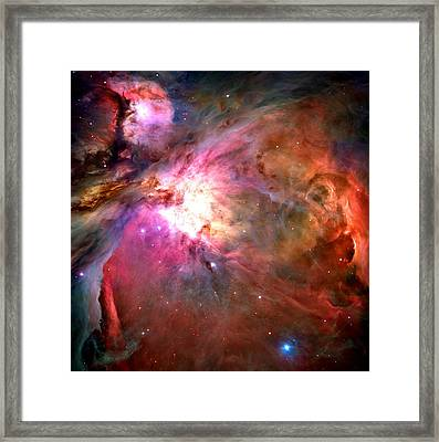 Orion Nebula Close Up 1-2-14 Framed Print by L Brown