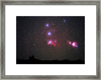 Orion Nebulae From The Canary Islands Framed Print