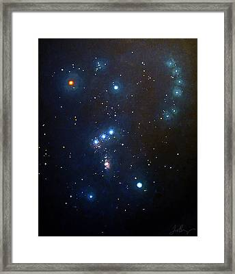 Orion The Hunter Framed Print by Timothy Benz