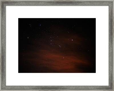 Orion With His Feet In The Clouds Framed Print