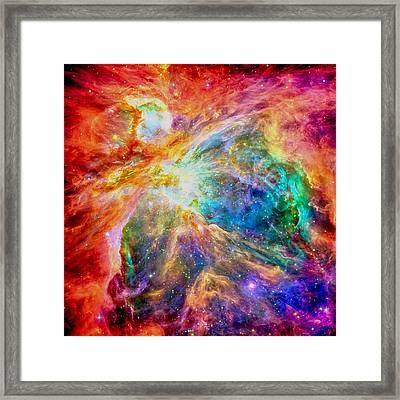 Orions Heart-where The Stars Are Born Framed Print by Eti Reid