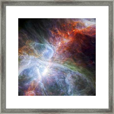 Orion's Rainbow Of Infrared Light Framed Print by Adam Romanowicz