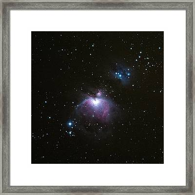 Orion's Sword In The Winter Sky Framed Print by Mike Berenson
