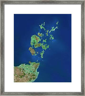 Orkney Islands Framed Print by Planetobserver/science Photo Library