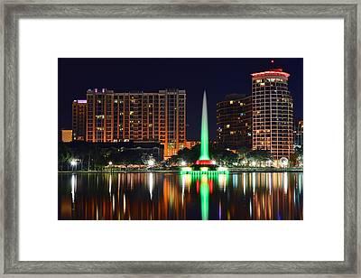 Orlando At Night Framed Print