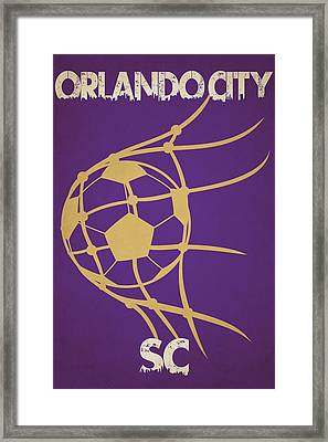Orlando City Sc Goal Framed Print by Joe Hamilton