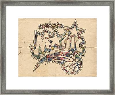 Orlando Magic Poster Art Framed Print