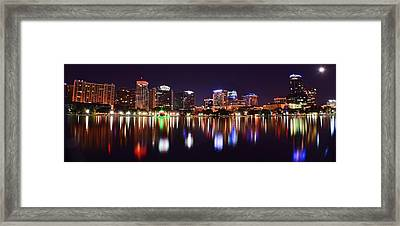 Orlando Over Lake Eola Framed Print by Frozen in Time Fine Art Photography