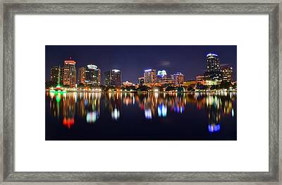 Orlando Panoramic View Framed Print by Frozen in Time Fine Art Photography