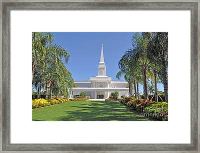 Orlando Temple 2 Framed Print by Rebecca Holland Hudnall