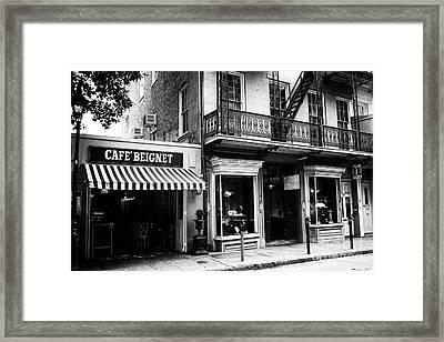 Orleans Cafe Noir Framed Print by John Rizzuto