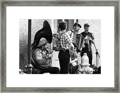 Orleans Jazz Framed Print by John Rizzuto