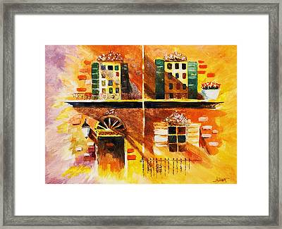 Framed Print featuring the painting Orleans Vignette by Al Brown