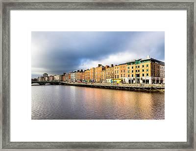 Ormond Quay In Dublin Ireland Framed Print