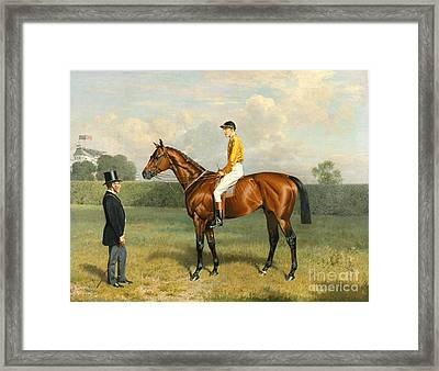 Ormonde Winner Of The 1886 Derby Framed Print by Emil Adam