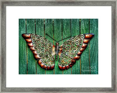 Ornamental Butterfly By Kaye Menner Framed Print by Kaye Menner