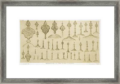 Ornamental Knobs Shaped As Domes Framed Print