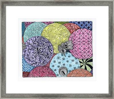 Ornaments Galore In Color Framed Print by Paula Dickerhoff