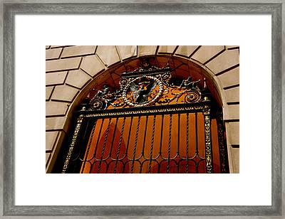 Ornate Arched Door Framed Print