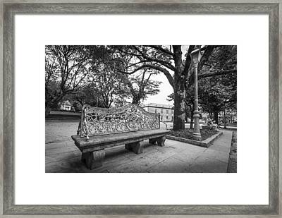 Framed Print featuring the photograph Ornate Bench by Gary Gillette