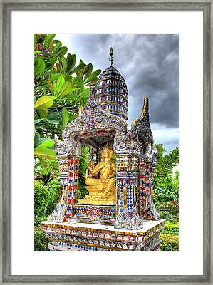 Ornate Buddhist Shrine, Wat Framed Print by Jaynes Gallery
