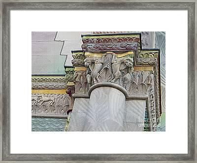 Ornate Columns Giclee Framed Print by CR Leyland