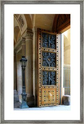 Ornate Door Framed Print by Andrew Fare