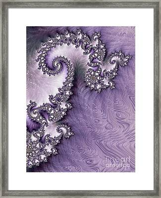 Ornate Lavender Fractal Abstract One  Framed Print by Heidi Smith