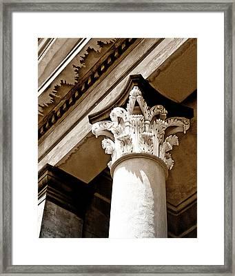 Ornate Savannah Ga Framed Print