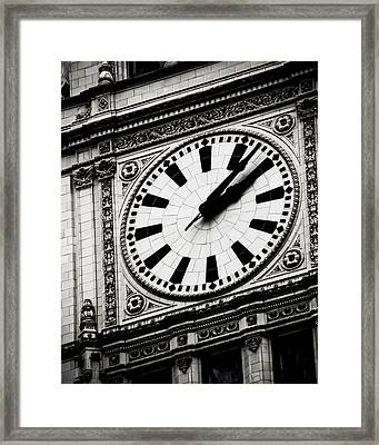 Ornate Time Framed Print by April Lee