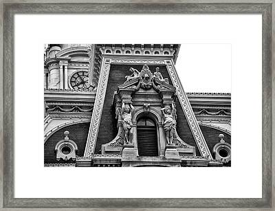 Ornate Window - Philadelphia City Hall Framed Print