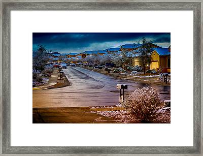 Oro Valley Winter No.54 Framed Print by Mark Myhaver
