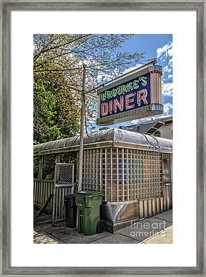 Orourkes Diner Middletown Connecticut Framed Print