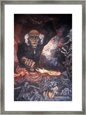 Orozco Mural Guadalajara Framed Print