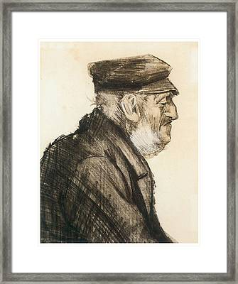 Orphan Man Bust-length Framed Print by Vincent van Gogh