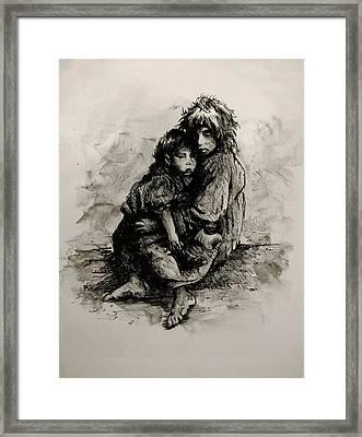 Orphans Framed Print