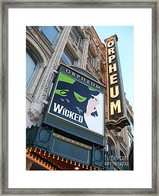 Orpheum Sign Framed Print