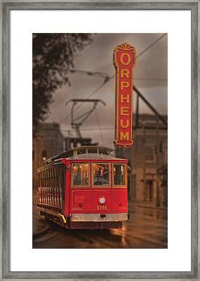 Orpheum Theater Memphis Framed Print