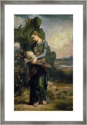 Orpheus, 1865 Oil On Canvas Framed Print