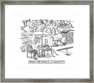 Orpheus And Eurydice In Connecticut Framed Print by Peter Steiner