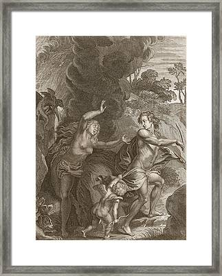 Orpheus, Leading Eurydice Out Of Hell Framed Print
