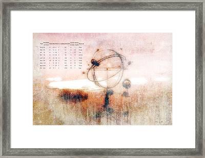 Orrery Framed Print by Bob Orsillo