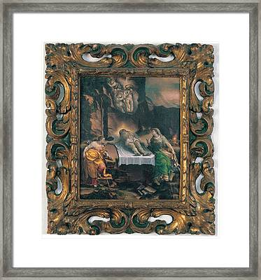 Orsi Lelio, Mourning The Dead Christ Framed Print by Everett