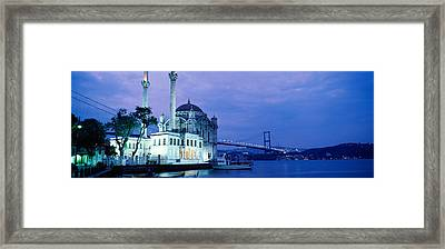 Ortakoy Mosque, Istanbul, Turkey Framed Print by Panoramic Images