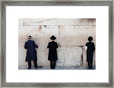 Orthodox Jewish Men Praying At The Framed Print by Nils Juenemann / Eyeem