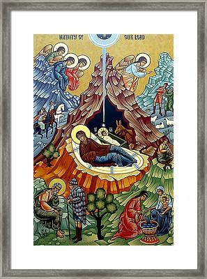 Orthodox Nativity Of Christ Framed Print