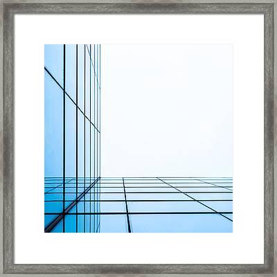 Orthogonal Framed Print by Adam Pender