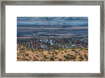 Ortiz Mountains Framed Print